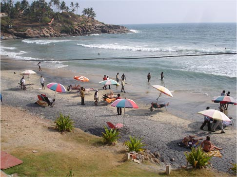 Kovalam Beach in South India